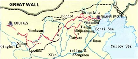 Great Wall Of China Map Outline by Greatwallmap