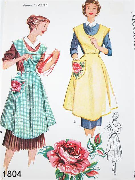 pattern apron vintage vintage apron pattern mccalls 1804 vtg 1950 s