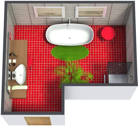 Modern Bathroom Plan by Bathroom Floor Plans Roomsketcher