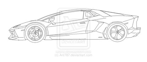 lamborghini sketch side view lamborghini outline side view pixshark com images