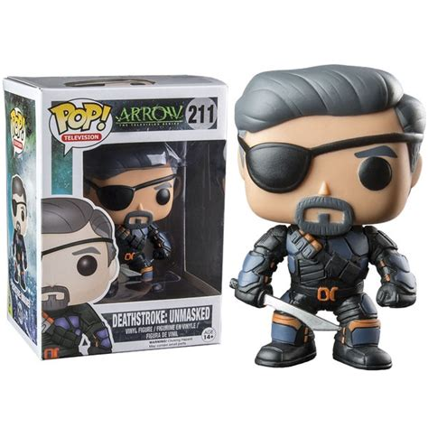 Funko Pop Deathstroke Dc dc comics arrow deathstroke unmasked exclusive pop vinyl