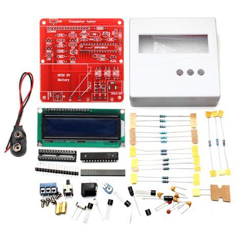 esr capacitor tester kit buy 86 plastic shell diy meter tester kit for capacitance esr inductance resistor npn pnp