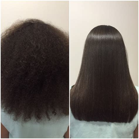relaxed hair before and after kerastraight ks ultimate before after on afro hair