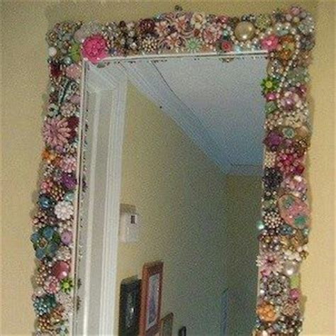 how to decorate with mirrors diy decorate mirror with old jewelry bows etc must