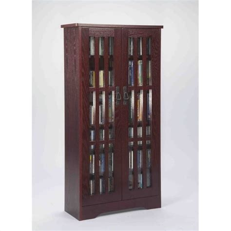leslie dame 62 quot cd dvd media storage cabinet