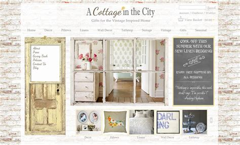 vintage home decor websites vintage cottage style web design boutique website