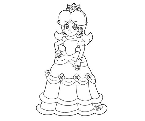 coloring pages of princess peach and daisy az coloring pages