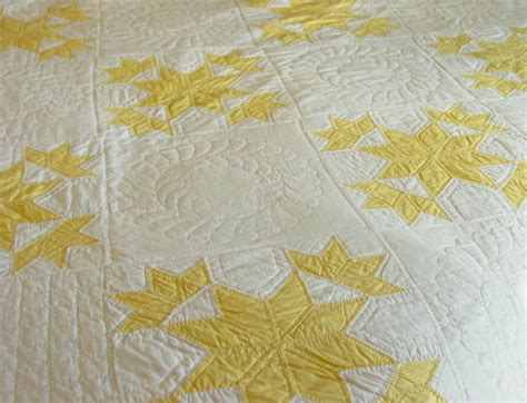 Yellow And White Quilts by Yellow And White Budding Quilt Sold Rennels