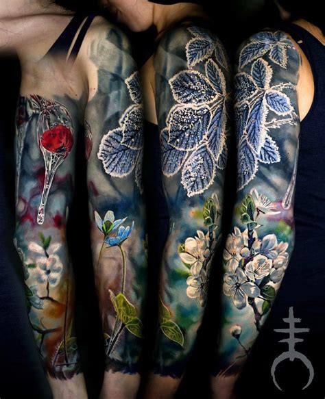 spring amp winter sleeve best tattoo design ideas