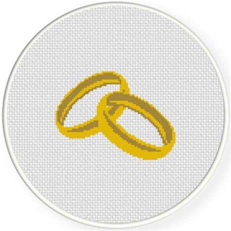 wedding ring cross stitch pattern daily cross stitch