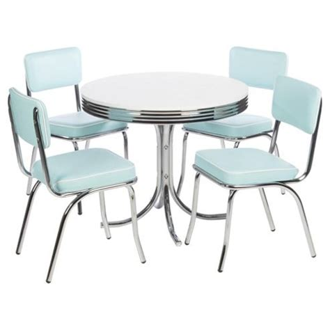 buy rydell 4 seat dining set with chairs blue from