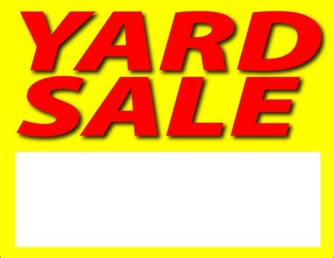 backyard sale yard sale sign clipart best