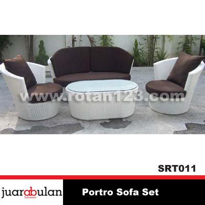 Sofa Rotan Sintetis harga jual portro sofa set sofa rotan sintetis model gambar