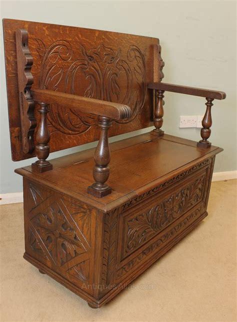 oak monks bench seat antique oak monks bench hall seat settle antiques atlas