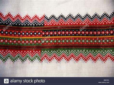 traditional embroidery design croatia europe stock photo  alamy