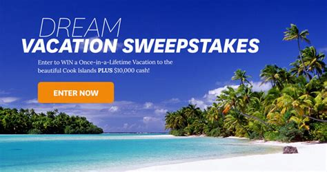 Sweepstakes Unlimited - bhg dream vacation at cook islands sweepstakes 2018