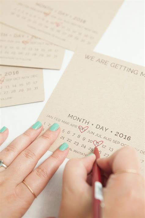 Diy Save The Date Calendar Template