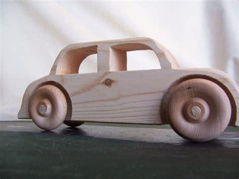 Handmade Toys For Boys - big wheel car sedan handmade from upcycled wood for