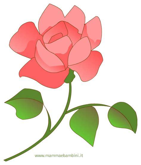 disegno di rosa fiore disegno di una rosa per la festa della mamma mamma e bambini
