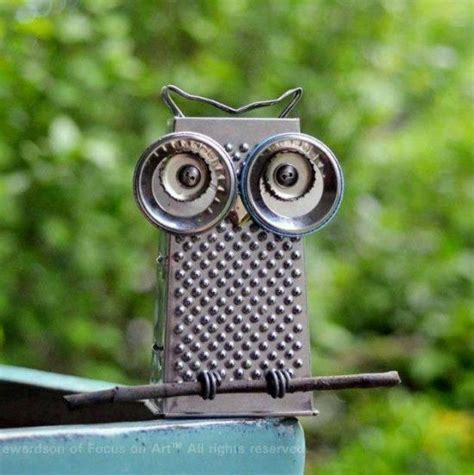 Recycled Owl Art   The WHOot