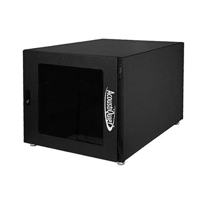 mini server rack cabinet acoustiquiet mini 9u rackmount cabinet