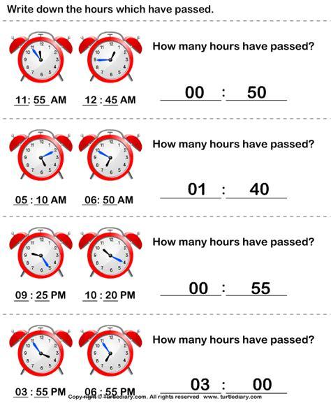 Elapsed Time Worksheet Turtle Diary