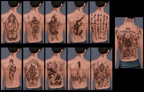 sims 3 tattoos mod the sims set of themed tattoos