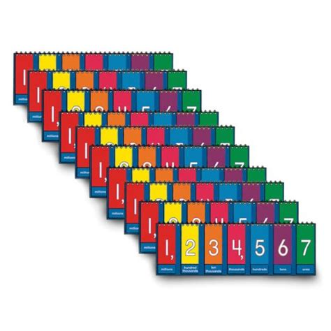 2 X 3 Set Of Nasco Tb25013t Place Value To Millions Decimal Tabletop Student Flip Chart Set 3 1 2 X 11 3 4