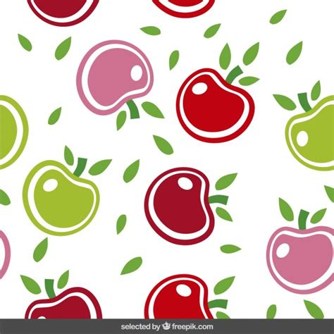 cute pattern vector free cute pattern with apples vector free download