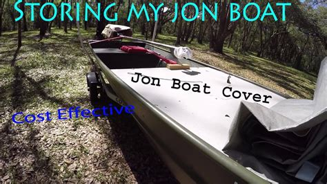 tracker jon boat covers affordable functioning jon boat cover idea youtube