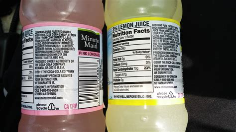 minute light carbs minute light pink lemonade nutrition facts