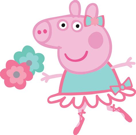peppa pig ballerina clip art peppa pig ballerina high quality s for cutting and printing