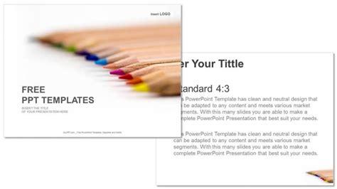 powerpoint color templates color pencils education ppt templates