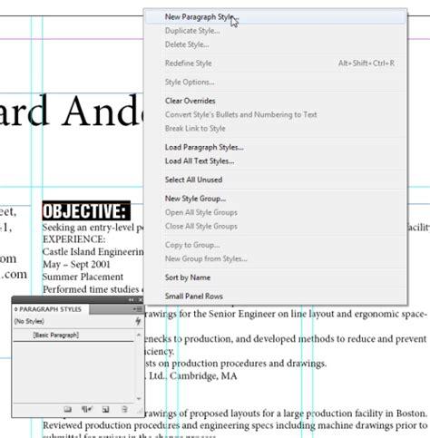how to design a resume in indesign cs5 indesigntutorials