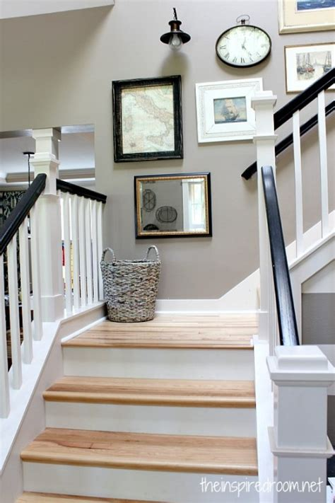 Stairway Gallery Wall {Mixing it Up}   The Inspired Room