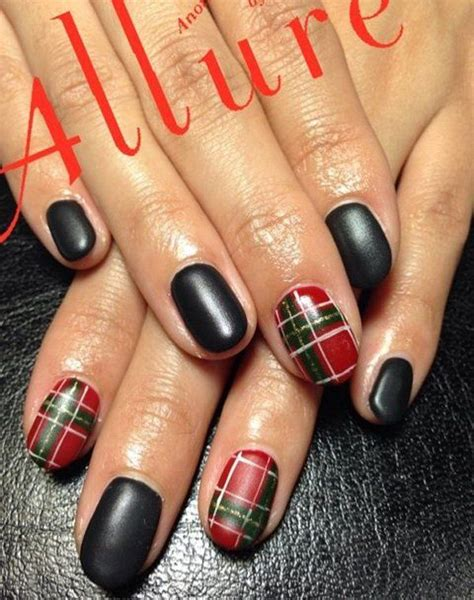 argyle pattern nail art 35 gingham and plaid nail art designs classy plaid and