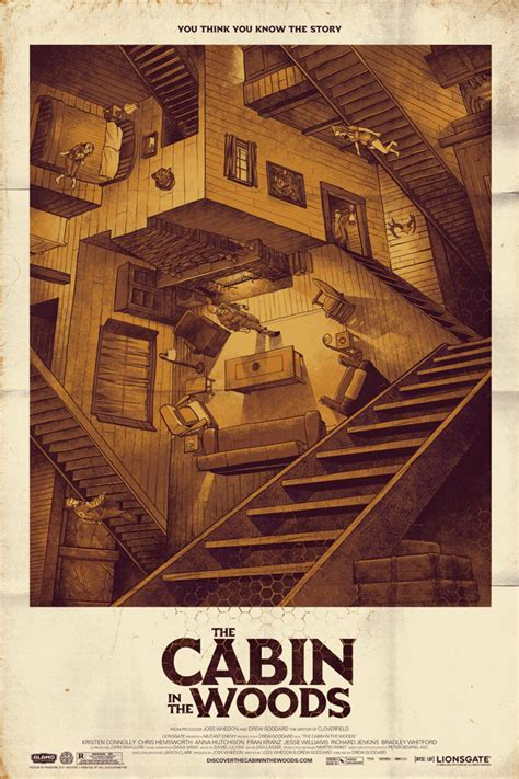 How Scary Is The Cabin In The Woods by Mondo S Twenty One Best Horror Posters Birth