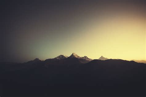 minimalist mountains mountains miiniim