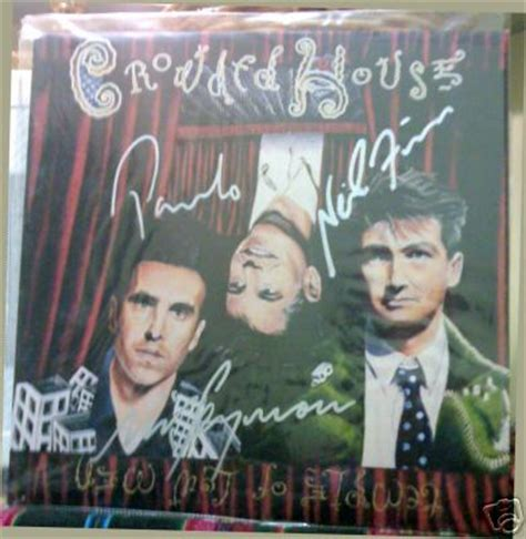 Cd Crowded House Temple Of Low popsike crowded house autographed album quot temple of