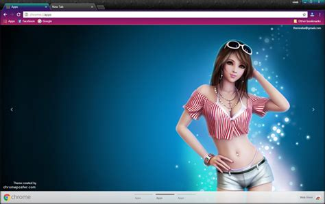 themes para google chrome anime stylish anime girl chrome theme chromeposta