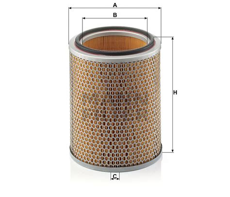 mann filter  catalog mexico product details air filter