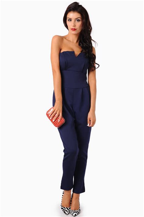 Religi Jumpsuit 2 In 1 Navy ursula bandeau scuba jumpsuit in navy iclothing