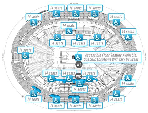 amway center floor plan accessibility guide amway center