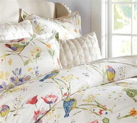 comforter with birds painterly bird duvet cover sham contemporary
