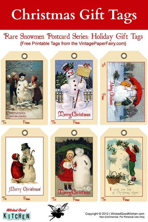 5 best images of free printable christmas gift tags
