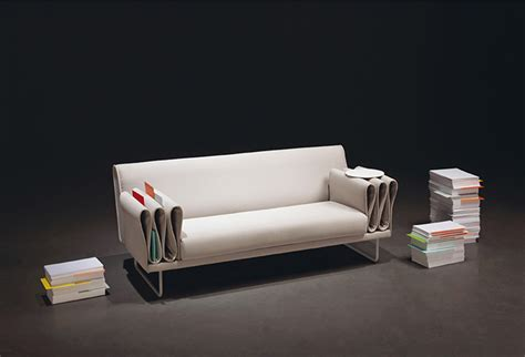 sofa arm rest tri folds sofa by camille paillard uses arm rest for storage