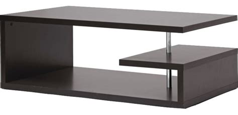 Lindy Dark Brown Modern Coffee Table   Contemporary