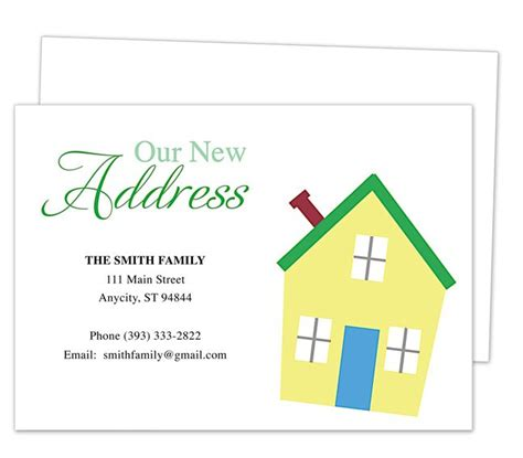 Address Cards Templates by Moving Announcements And New Address Moving Postcards