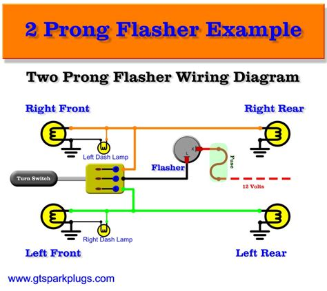 two prong flasher relay wiring diagram two free engine