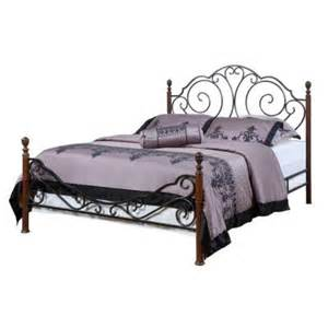 King Size Metal Bed India Valencia Size Poster Bed In Bronzed Black Cherry